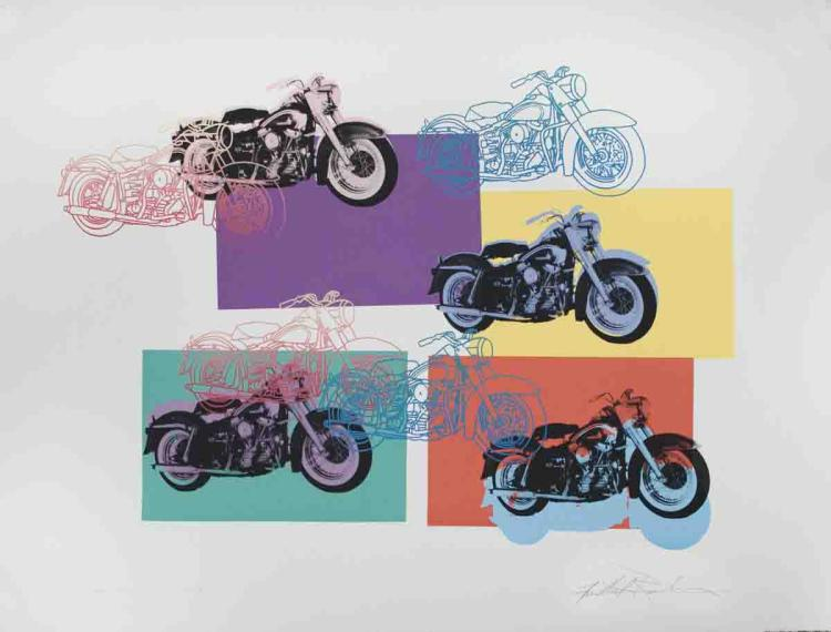 Signed 1994 Renbaum Harley x 9 Serigraph
