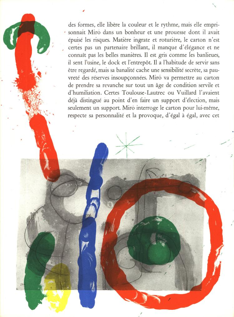 Joan miro page from derriere le miroir no 151 152 1965 for Derriere le miroir miro
