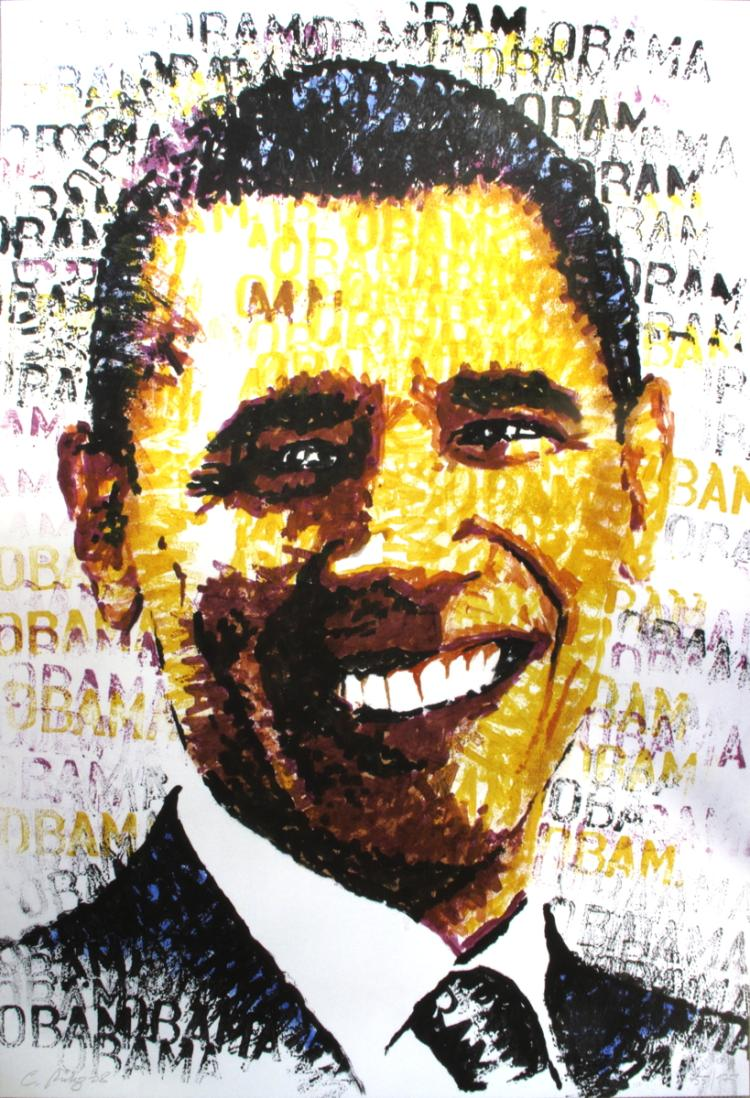 Chris Britz - Obama - 2008 - SIGNED
