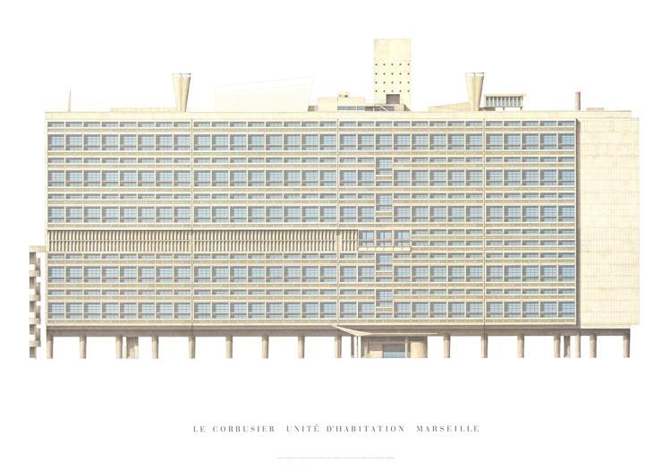 Le corbusier unite d 39 habitation marseille - Unite d habitation dimensions ...