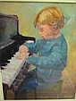 MARJORIE WILSON 'Practice Makes Perfect' oil on, Marjorie Wilson, Click for value