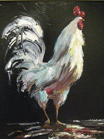 LORNA MILLAR  'The Cockerel'  oil on board