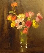 ALMA FIGUEROLA (1895 - 1969) 'Spring Bunch' Oil on