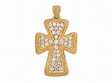 A Diamond and Gold Cruciform Pendant, Van Cleef & Arpels