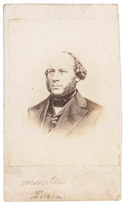 1862 Civil War Date John Ericsson Carte de Visite Photo Desi