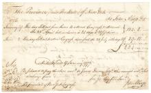 1777 JOHN ALSOP + JAMES DUANE Signed Document for Representing NY in Congress