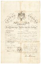 Impressive 1847 U.S. Passport Signed By JAMES BUCHANAN