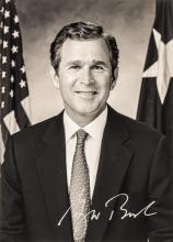 GEORGE W. BUSH, 43rd President of the United States Autograph B/W Photo Signed