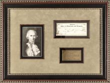 1821 Check Signed By Declaration Signer CHARLES CARROLL of Carrollton, Maryland