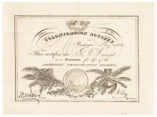 1852 HENRY CLAY Signed American Colonization Society Membership Certificate!