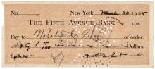 Very Rare & Popular AMELIA EARHART Autograph, Signed Check