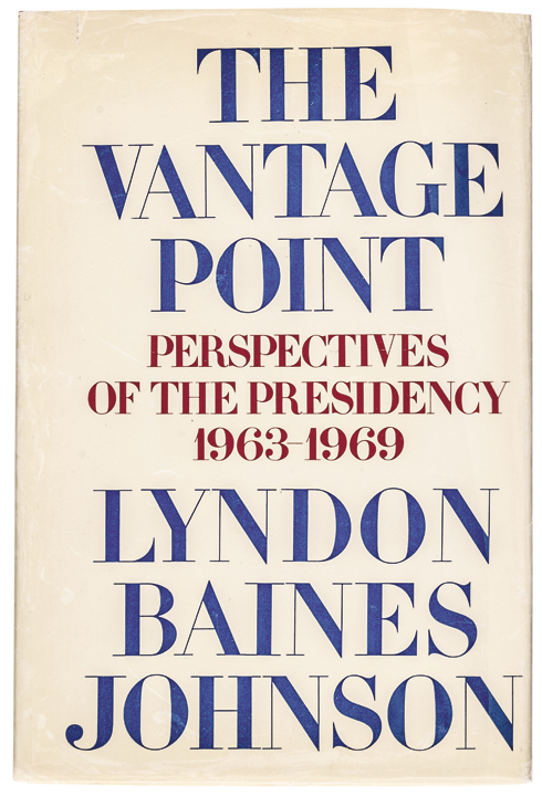 First Edition Autobiography Signed by President LYNDON BAINES JOHNSON