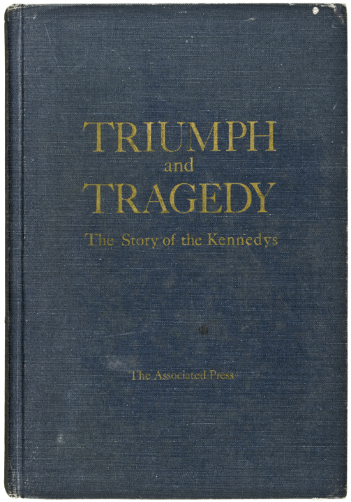 1968 DAVID POWERS Signed Book TRIUMPH and TRAGEDY, STORY OF THE KENNEDYS.