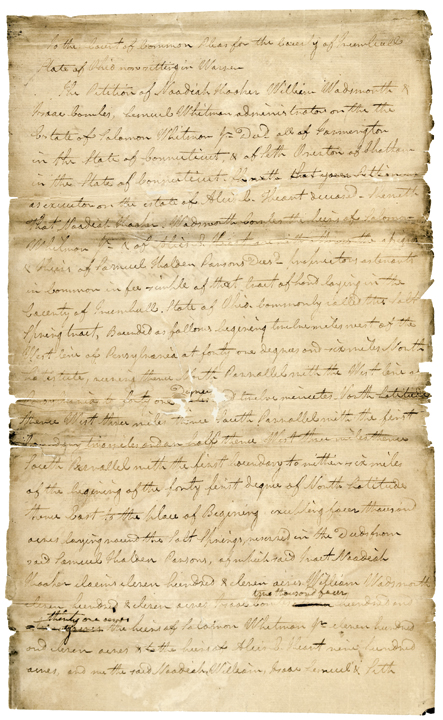 TURHAND KIRKLAND, 1805-Dated, Document Signed