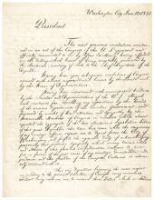 Important LAJOS KOSSUTH Manuscript Farewell Letter Signed to President Fillmore