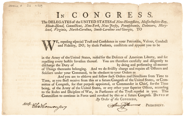 c. 1777-78 Continental Congress President HENRY LAURENS Signed Document