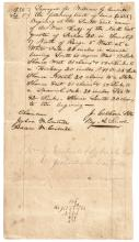 ABRAHAM LINCOLN Rare 1834 Early Manuscript Land Survey All In Lincoln's Hand