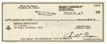 1979 RICHARD MILHOUS NIXON Signed Check to the American Cancer Society