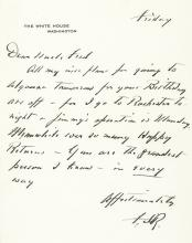 Very Rare Autograph Letter Signed F.D.R. as President