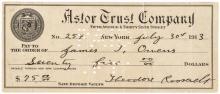 1913 Bold & Vivid THEODORE ROOSEVELT Signed Check