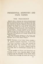 1904 as President THEODORE ROOSEVELT Signed Book of His Speeches