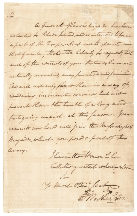 GEORGE WASHINGTON Manuscript Letter Signed