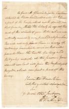 GEORGE WASHINGTON Manuscript Letter Signed