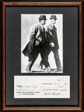 1920 ORVILLE WRIGHT Signed Check, Wright Brothers Photo