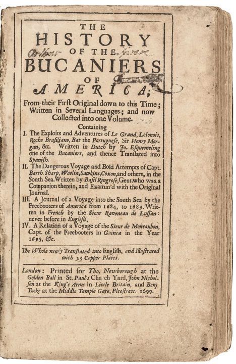 1699 Book Titled: The History of the Bucaniers of America Alex Exquemelin London