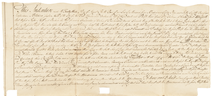 Indenture Document, NY 1783