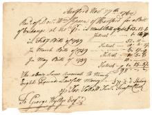 Colonial Currency, CT, November 27, 1762 Receipt