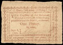 Colonial Currency, New York. Reformed Dutch Church at Schenectady. Church Money