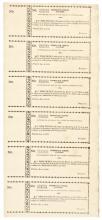 1806 Uncut Sheet of Six Superb Pennepack School Lottery Tickets - Pennsylvania