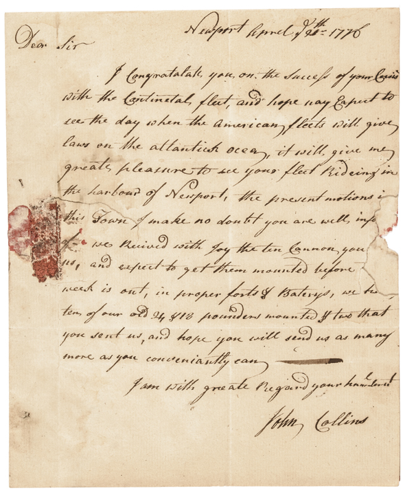 April 20, 1776 Revolutionary War Period Autogaph Letter Signed,