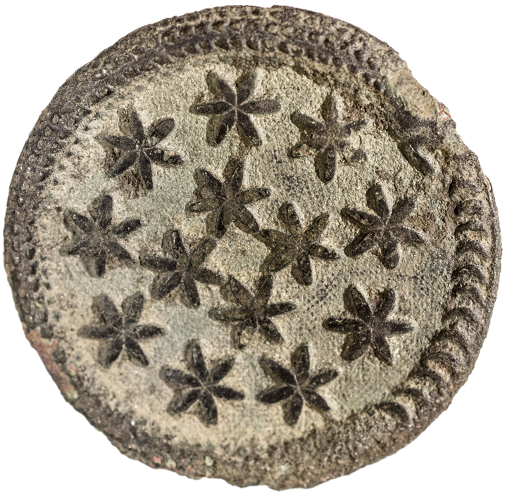 c. 1775 Revolutionary War Era Button - Rattlesnake and Stars Design