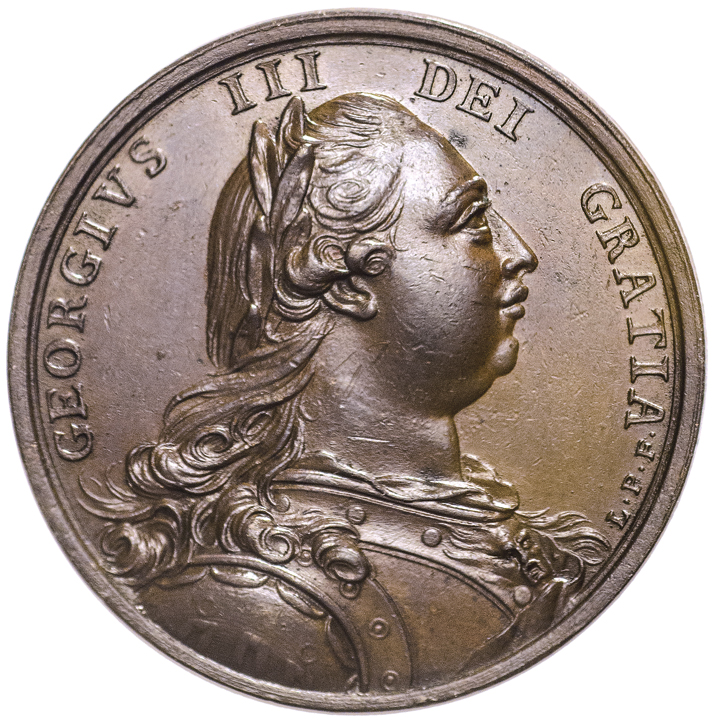 1785 JOHN ADAMS Ambassador Medal Struck in Bronze By Lewis Pingo. Choice Mint