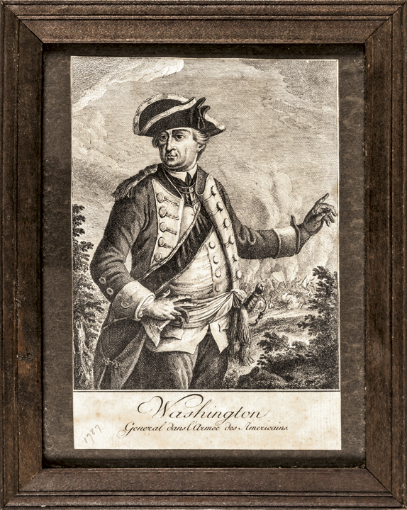 Rare Revolutionary War Engraving of George Washington