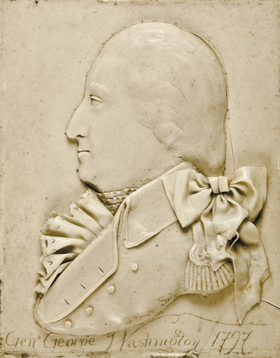 1797-Dated General George Washington Wax Portrait Signed by the Artist, G. Rouse