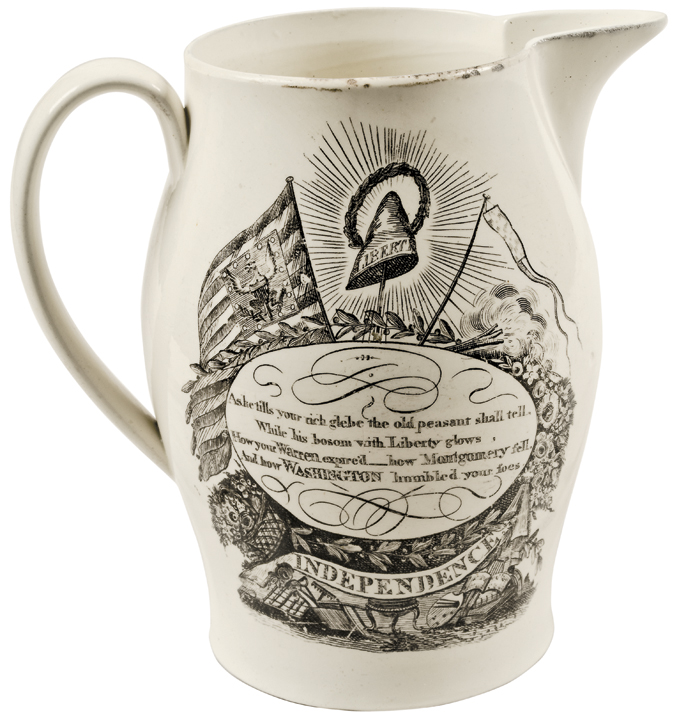 1805 Historic Liverpool Creamware AMERICA LAMENTING DEATH OF HER FAVORITE SON