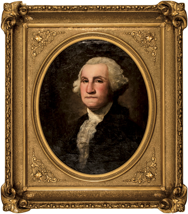 George Washington Oil Portrait by Samuel Woodson Price Civil War Union General