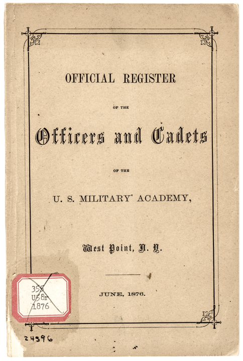 1876 1st Edition Register West Point Officers & Cadets by the West Point Press