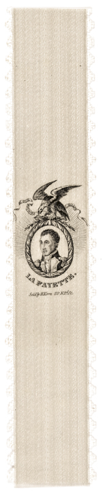 1824 LAFAYETTE Tour Silk Commemorating legend La Fayette Our Nation's Boast