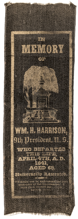 1841 WILLIAM HENRY HARRISON Memorial Ribbon