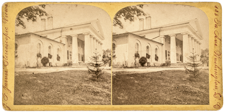 Stereoview Photo of Arlington House, Home of Confederate General Robert E. Lee