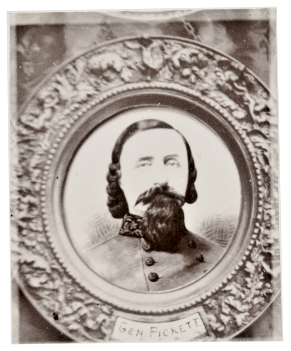 1860s Civil War Confederate General George Edward Pickett, Locket-sized Photo