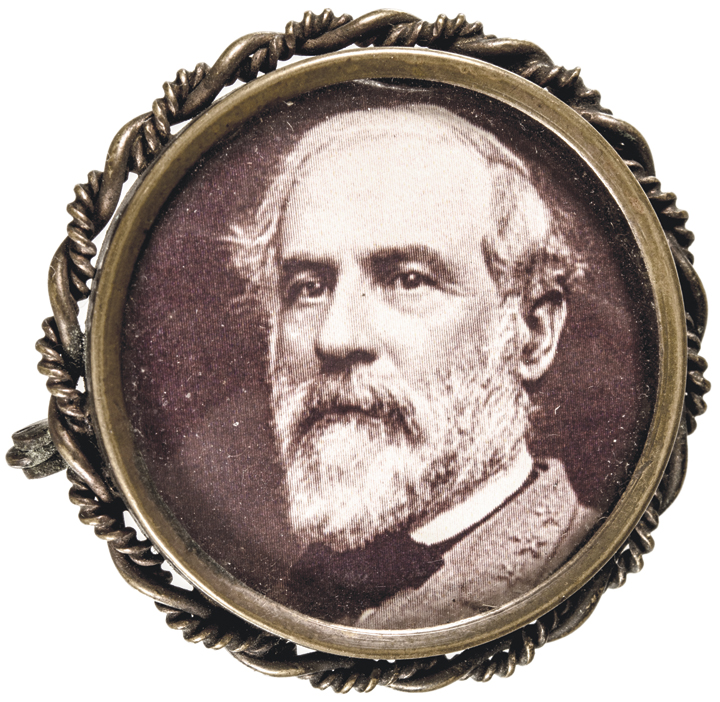 c 1880 Post Civil War Decorative Celluloid Pinback of General Robert E. Lee