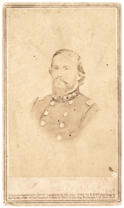 1862 Carte de Visite Photograph Confederate General John Hunt Morgan by Anthony