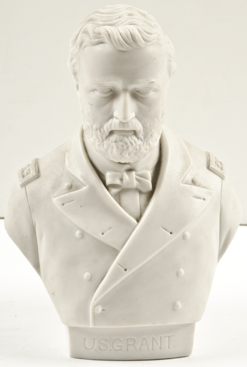 Superb c. 1864 Parian Bust of Three-Star Lt. General Ulysses S. Grant