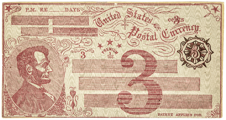 Postal Currency Envelope1869 Fisk Mills 3