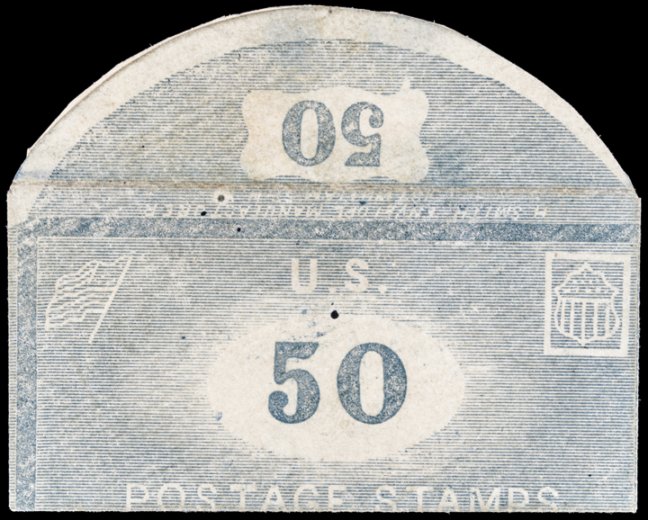Postage Stamp Envelope. H. SMITH, Envelope Manufacturer, NY. Complete 50 (Cents)